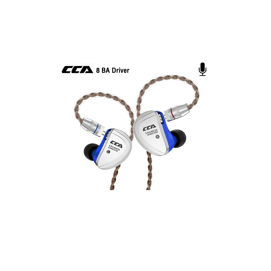 หูฟังอินเอียร์ CCA รุ่น C16 BA 8 Driver Microphone