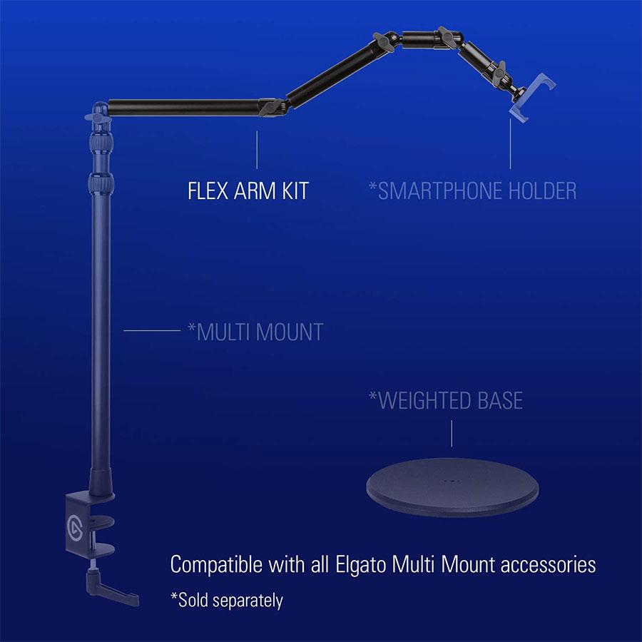 ขาตั้งกล้อง Elgato Multi Mount Flex Arm Kit