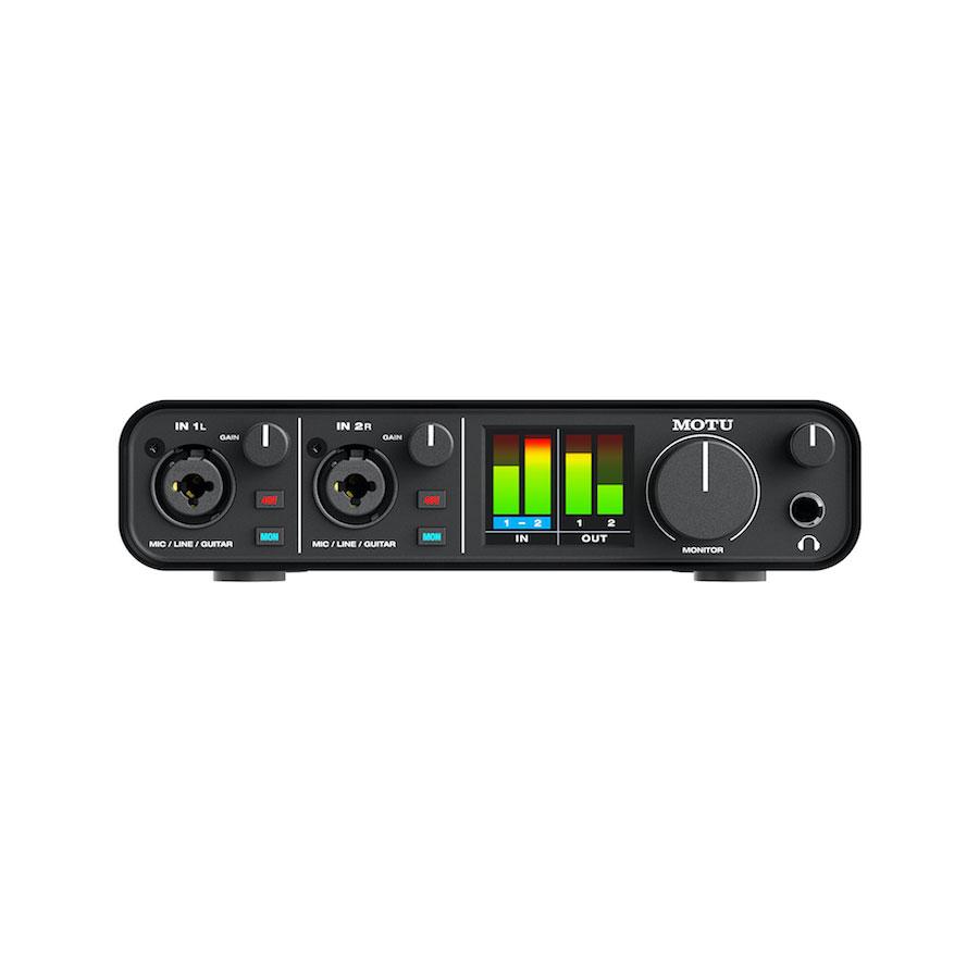 ออดิโออินเตอร์เฟส ยี่ห้อ Motu รุ่น M2 2x2 USB-C Recording