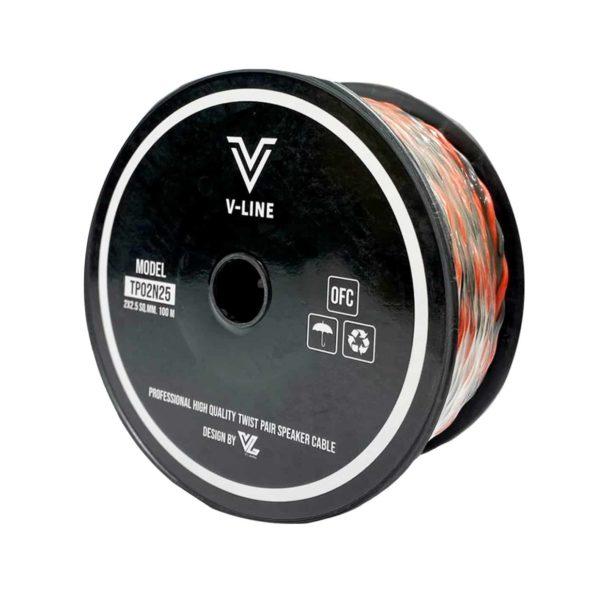 VLine TP02N25 สายใช้ในตู้ลำโพง 2 คอร์ ขนาด 2.5 Sqmm.