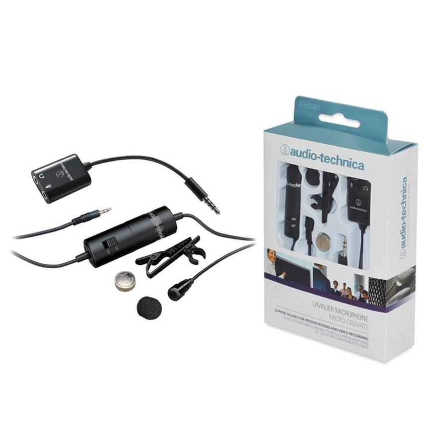 ไมค์ติดกล้อง audio-technica ATR3350iS Lavalier Microphone