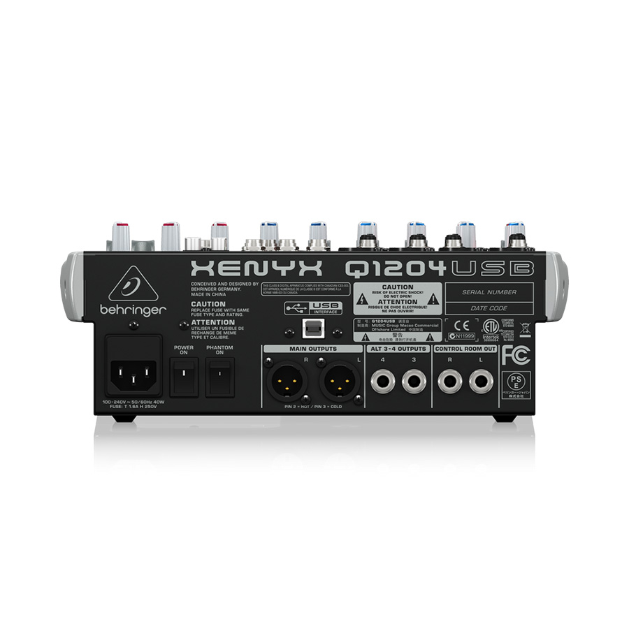 อนาล็อกมิกเซอร์ BEHRINGER XENYX Q1204 USB