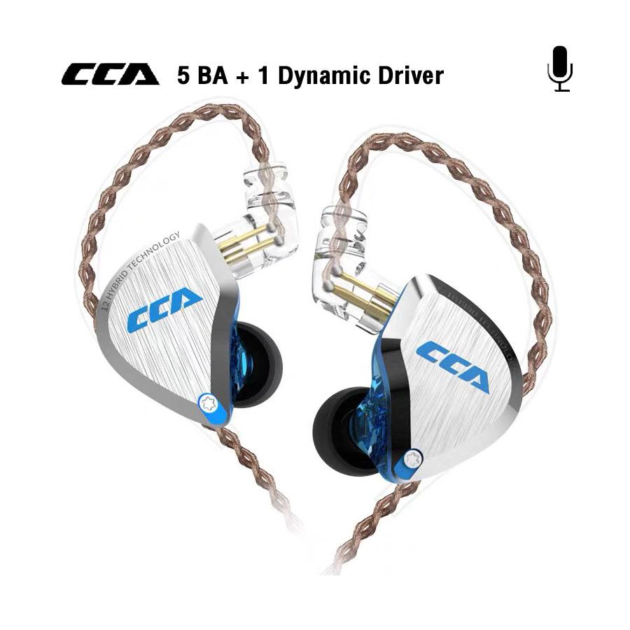 หูฟังอินเอียร์ CCA รุ่น C12 Hybrid 6 Driver Microphone