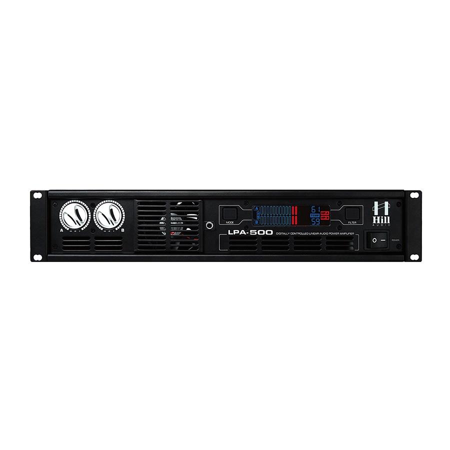 Hill Audio LPA500 เพาเวอร์แอมป์ 2 แชนแนล 125 วัตต์