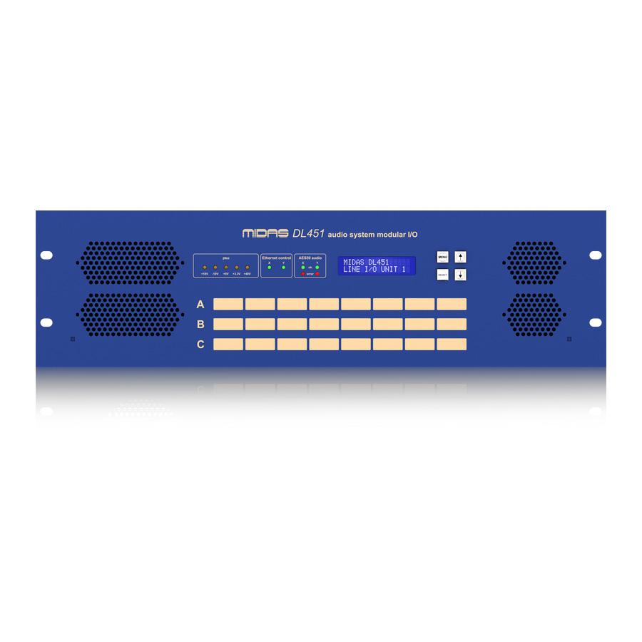 สเตจบ๊อก MIDAS DL451 I/O INTERFACES MODULAR STAGE BOX
