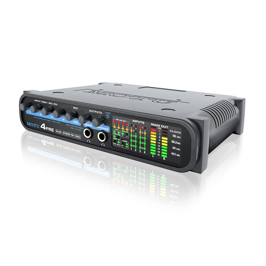 ออดิโออินเตอร์เฟส ยี่ห้อ Motu รุ่น 4pre USBFireWire