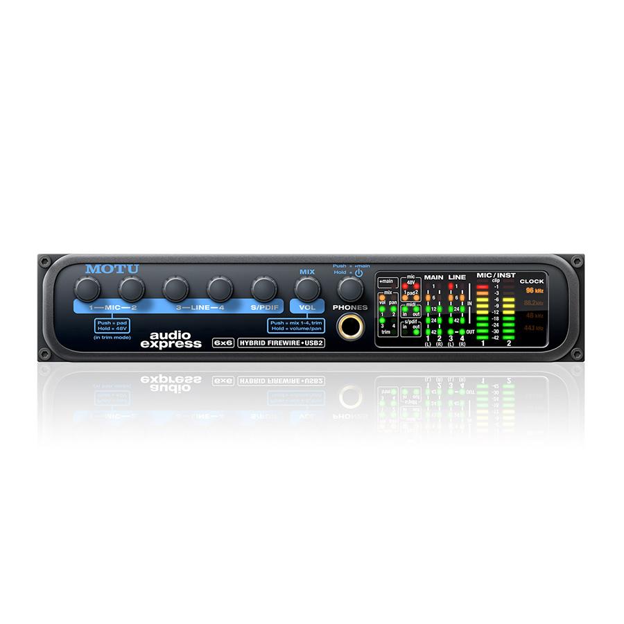 ออดิโออินเตอร์เฟส ยี่ห้อ Motu รุ่น Audio Express Hybrid