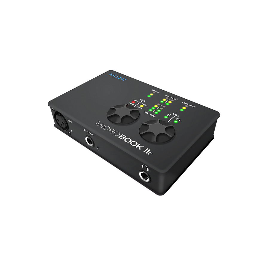 ออดิโออินเตอร์เฟส ยี่ห้อ Motu รุ่น MicroBook IIc Audio Interface