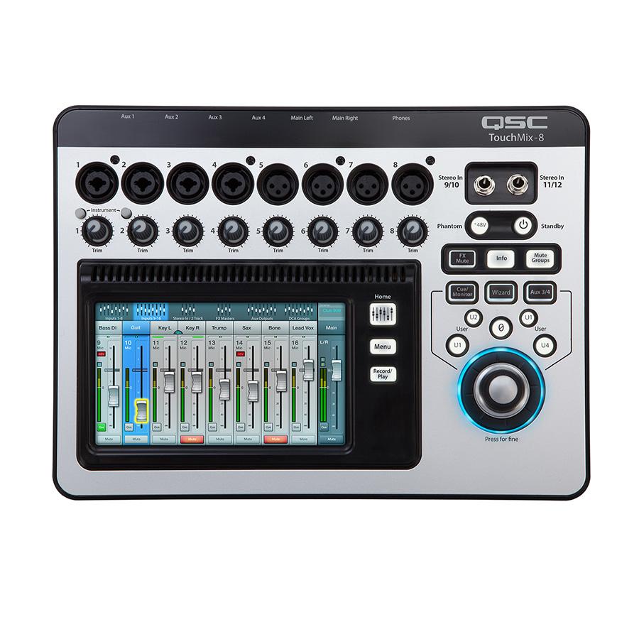 ดิจิตอลมิกเซอร์ QSC TOUCHMIX 8 Digital Mixer