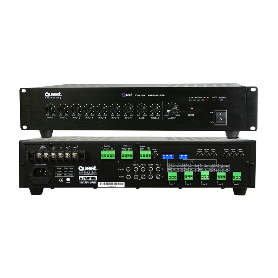 มิกเซอร์ QUEST QTA6130M Mixer Mixer Amplifier