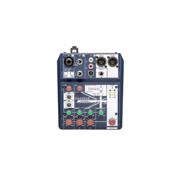 อนาล็อกมิกเซอร์ SOUNDCRAFT Notepad-5 Small Analog Mixing
