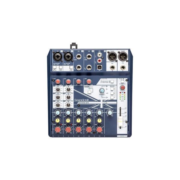 อนาล็อกมิกเซอร์ SOUNDCRAFT Notepad-8FX Small Analog Mixing