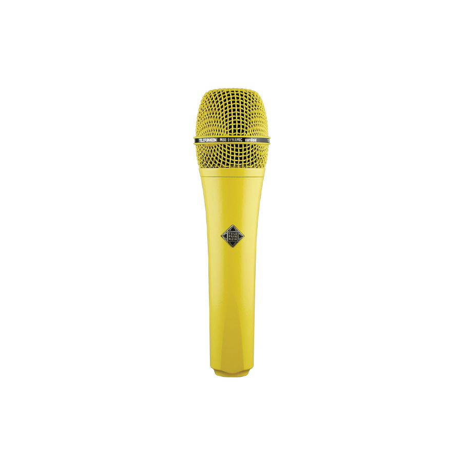 ไมโครโฟนสำหรับร้อง ยี่ห้อ Telefunken รุ่น M80 YELLOW