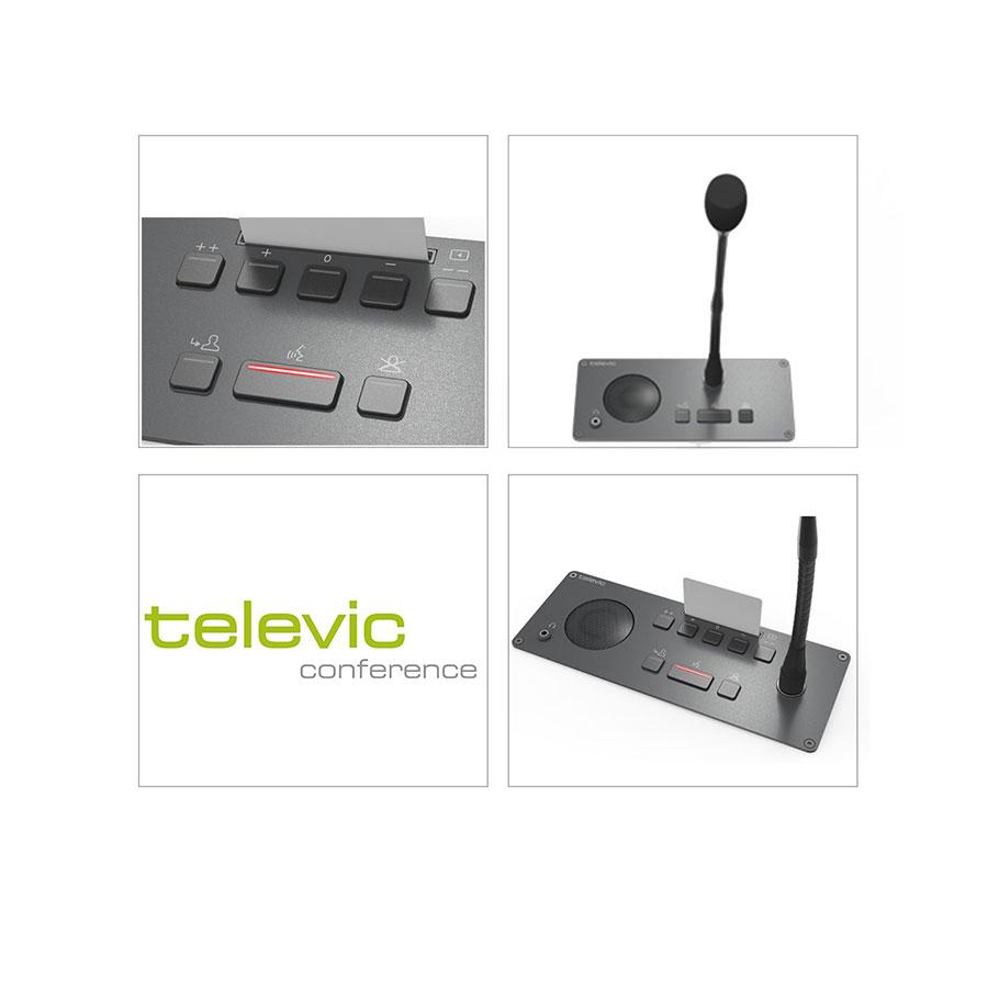 ไมค์ประชุมแบบฝังโต๊ะ TELEVIC Confidea F-CV Chairman Panel