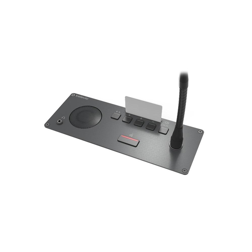 ฐานไมโครโฟนประชุมแบบฝังโต๊ะ TELEVIC Confidea F-DV Delegate Panel