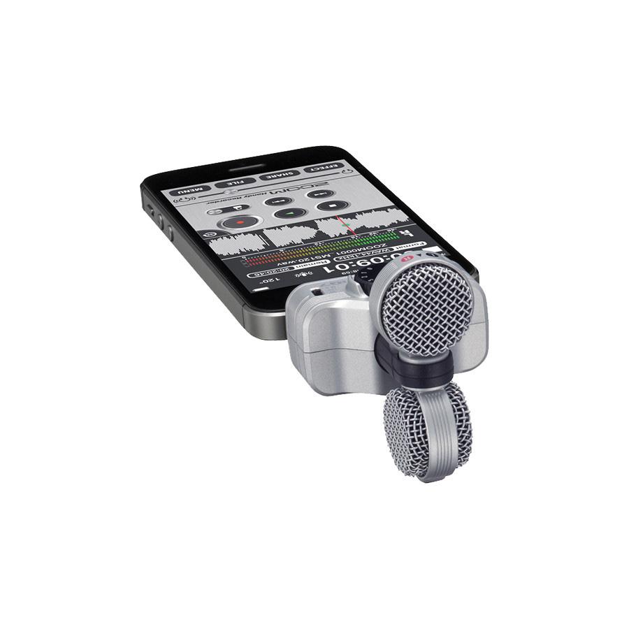 ไมโครโฟนบันทึกเสียง สำหรับ iOS ยี่ห้อ Zoom รุ่น iQ7