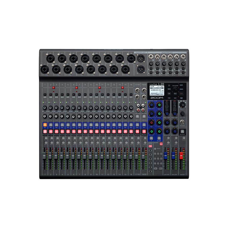 ดิจิตอลมิกเซอร์พร้อมบันทึกเสียง ยี่ห้อ Zoom รุ่น LiveTrak L20